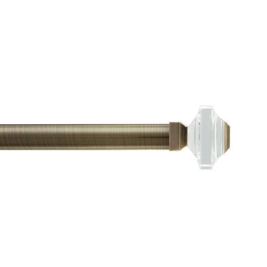 "HDI Premium Glass Square 1⅛"" Single Curtain Rod"