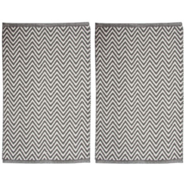 Chesapeake Merchandising Portland Chevron Rectangular Rug Set