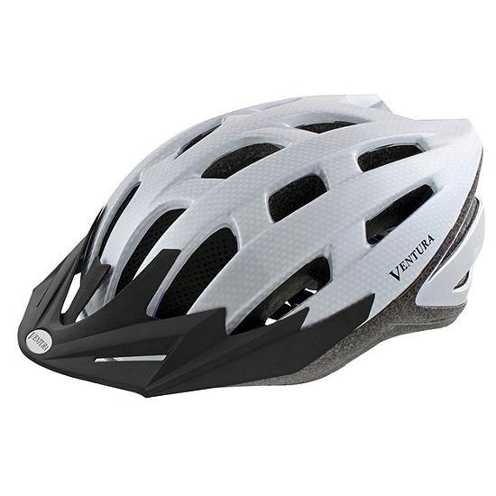 Ventura Silver Red In Mold Helmet