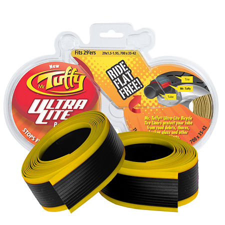 Mr. Tuffy Ultra Light Bicycle Tire Liner (Gold) 700 x 32-41c or 29 x 1.5-2.0, One Size , Yellow