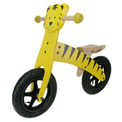 M-Wave 12 Wooden Tiger Balance Running Bike