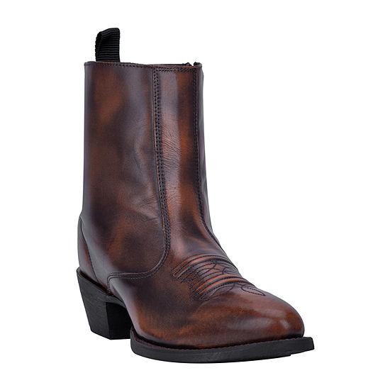 Laredo Mens Fletcher Block Heel Wide Width Cowboy Boots