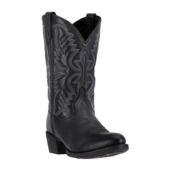 Laredo Mens Birchwood Block Heel Wide Width Cowboy Boots