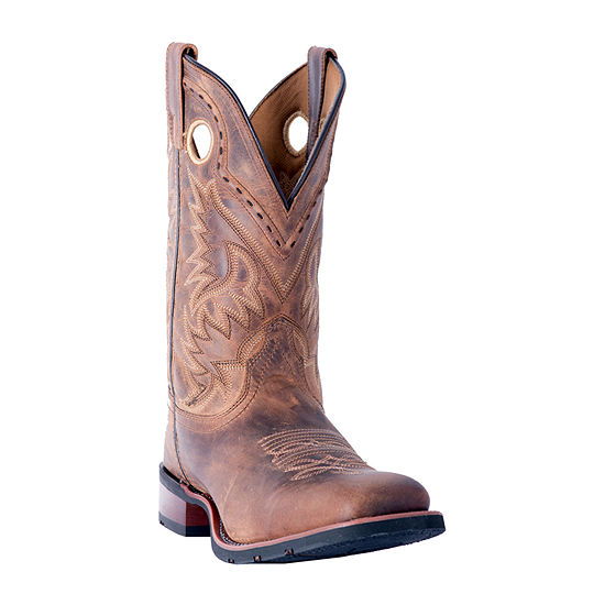 Laredo Mens Kane Block Heel Wide Width Cowboy Boots