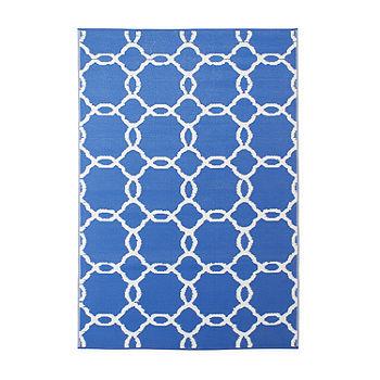 Blue Rectangular Indoor Outdoor Rugs