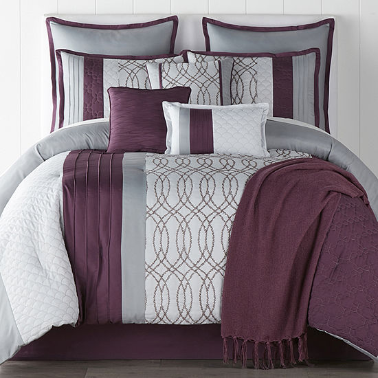 JCPenney Home Hannah 10-pc. Embroidered Comforter Set