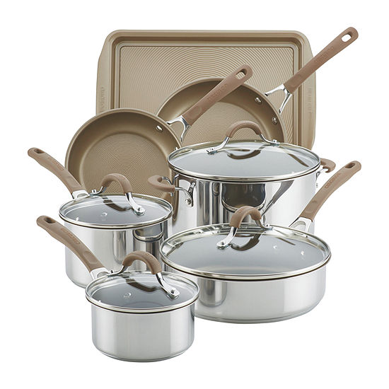 Circulon 11-pc. Stainless Steel Non-Stick Cookware Set