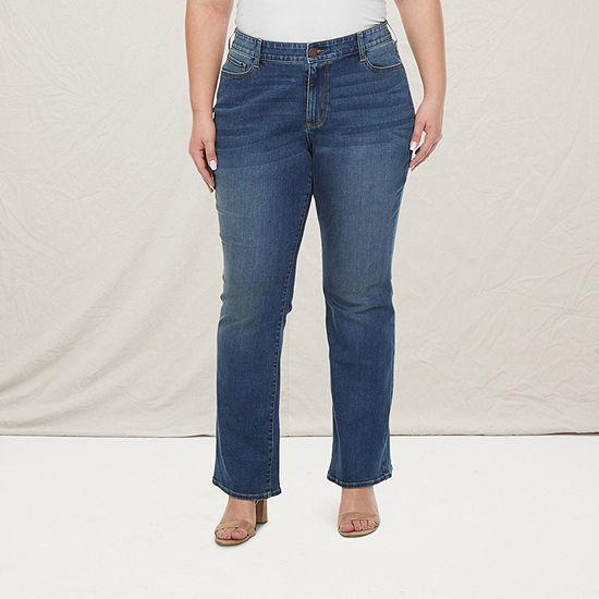 a.n.a-Plus Womens Slim Fit Bootcut Jean