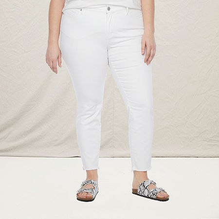 a.n.a-Plus Womens Skinny Jean, 30w , White