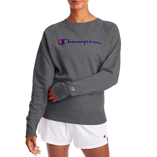 Champion Womens Crew Neck Long Sleeve Hoodie