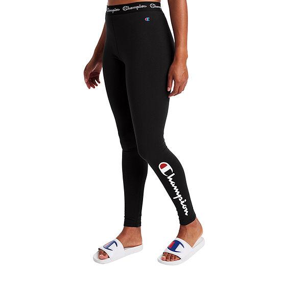 Champion Womens Mid Rise Full Length Leggings
