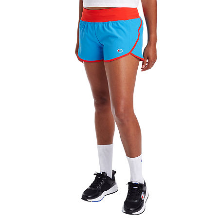 Front Style: Flat FrontFeatures: Moisture WickingFit: Modern FitPockets: 1 Back Zip PocketRise: Low RiseShort Length: Short LengthFabric Content: 87% Polyester, 13% SpandexFabric Description: WovenInseam: 2 1/2 InCare: Machine WashCountry of Origin: Imported