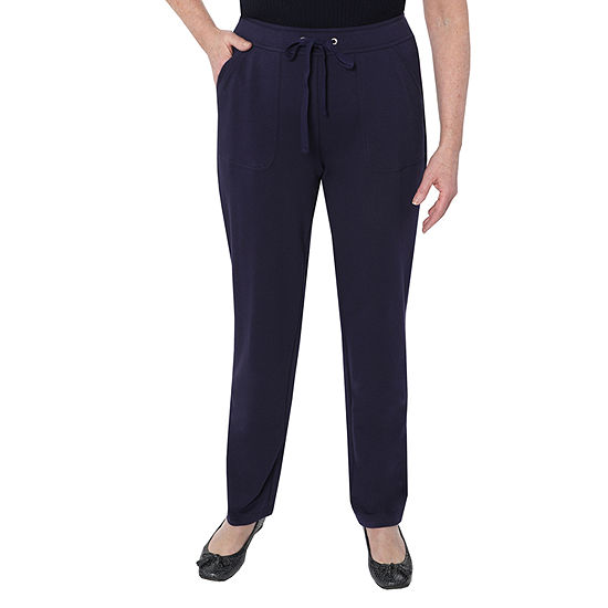 Cathy Daniels Weekend Brunch Womens Mid Rise Straight Pull-On Pants