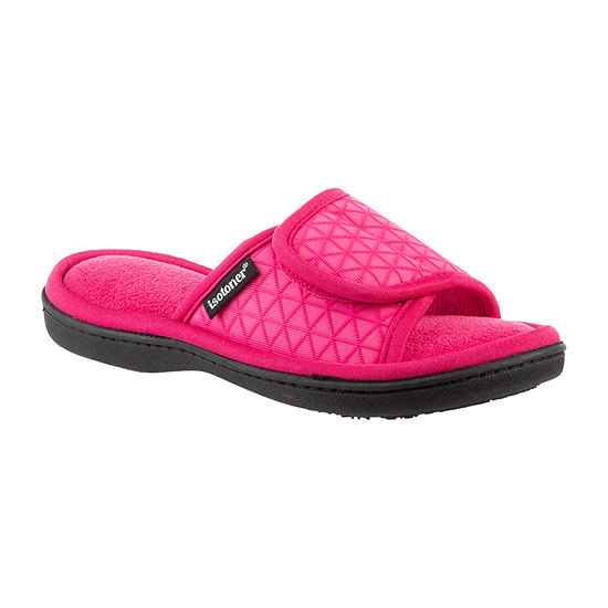 Isotoner Womens Mesh Adjustable Slide Slippers