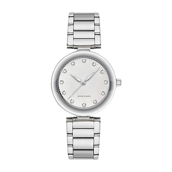 Red Bow Deal 1/10 Ct. T.W. Diamond Womens Silver Tone Bracelet Watch-13860s-18-E28