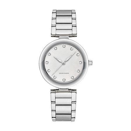 Red Bow Deal 1/10 Ct. T.W. Diamond Womens Silver Tone Bracelet Watch 13860s-18-E28, One Size