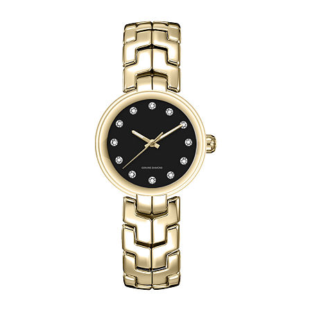 Red Bow Deal 1/10 Ct. T.W. Diamond Womens Gold Tone Bracelet Watch 13859g-18-G27, One Size