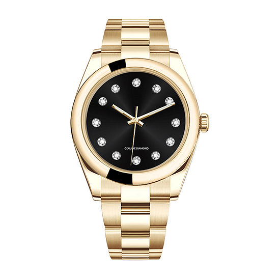 Red Bow Deal 1/10 Ct. T.W. Diamond Mens Gold Tone Bracelet Watch 50056g-18-G27