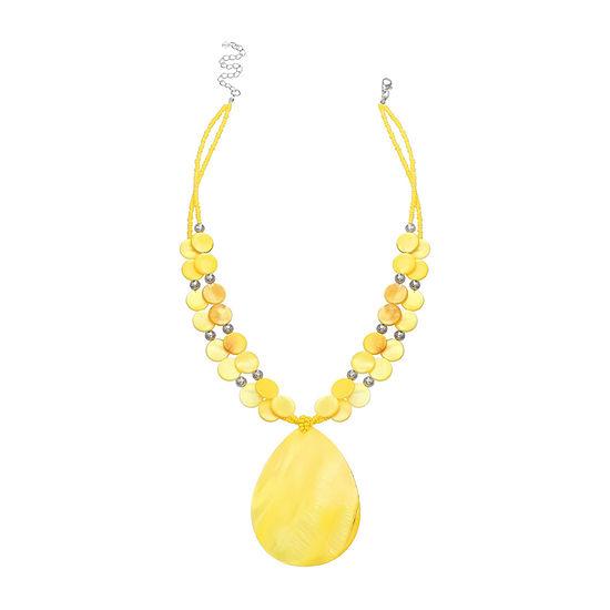 Mixit Shell Yellow 18 Inch Pendant
