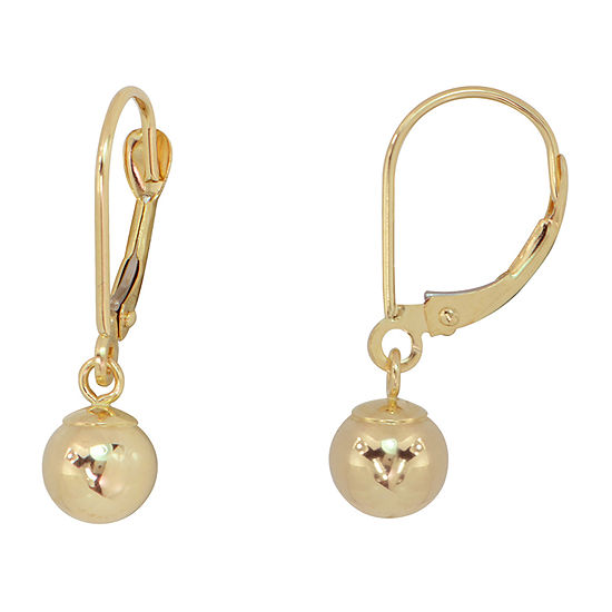 14K Gold Ball Drop Earrings