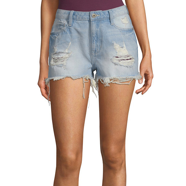 Arizona Womens High Rise Short-Juniors
