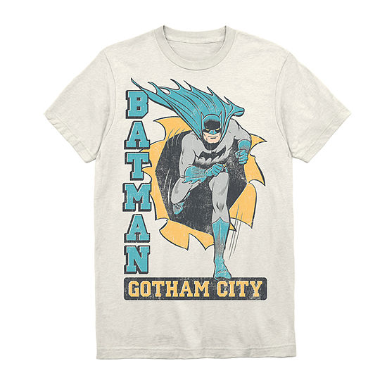 Vintage Batman Mens Crew Neck Short Sleeve Batman Graphic T-Shirt