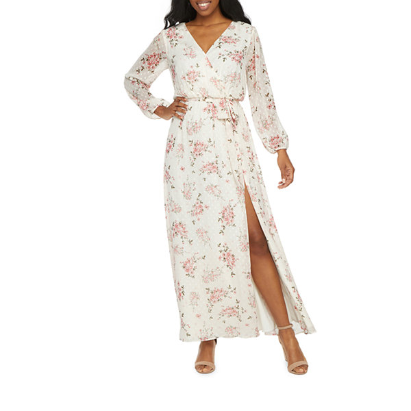 Premier Amour Long Sleeve Floral Maxi Dress