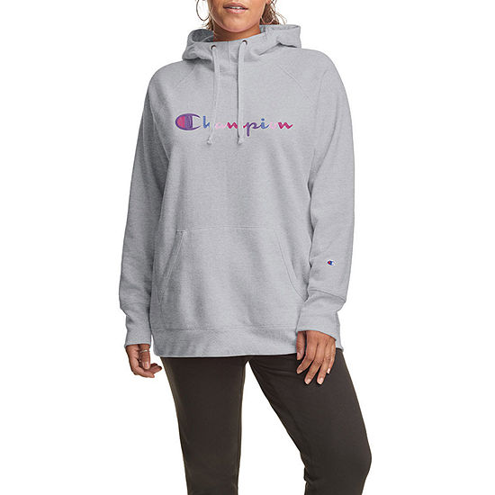 Champion Womens Hooded Neck Long Sleeve Hoodie Plus
