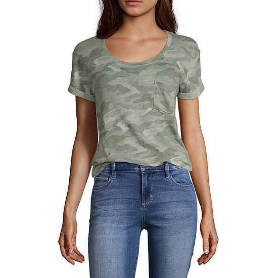 a.n.a Womens Tall Round Neck Short Sleeve T-Shirt