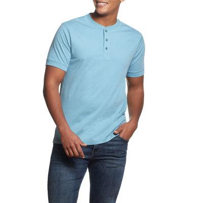 American Threads Mens Short Sleeve Henley Shirt