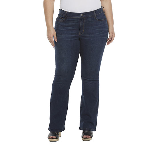a.n.a - Plus Womens High Rise Modern Fit Stretch Flare Jean