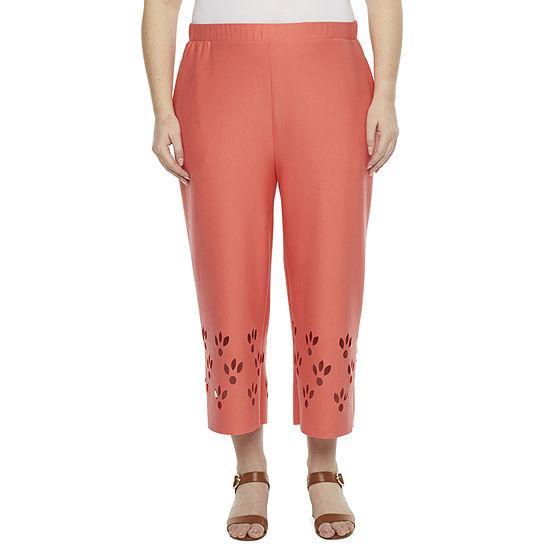 Worthington-Plus Womens Straight Pull-On Pants