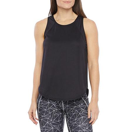Xersion Womens Round Neck Sleeveless Tank Top, Small , Black