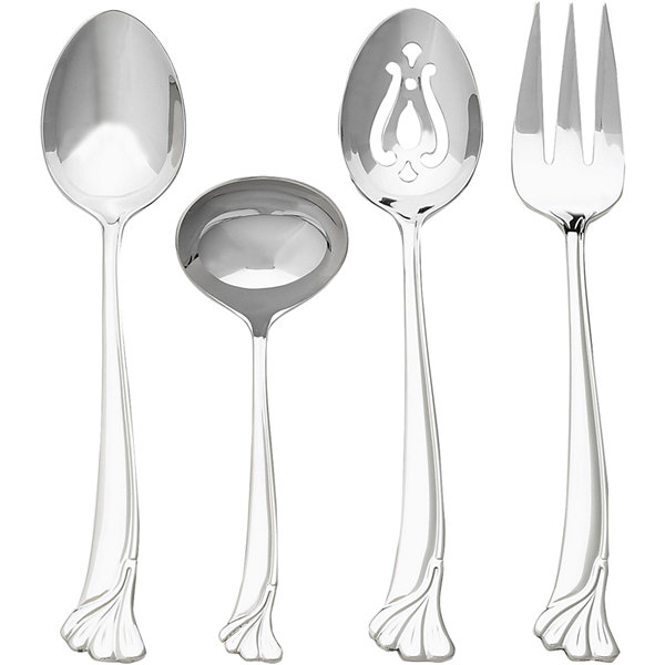 Ginkgo Leaf 4-pc. 18/10 Stainless Steel Serving Set