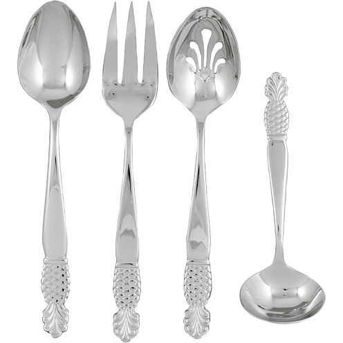 Ginkgo Pineapple 4-pc. 18/10 Stainless Steel Serving Set