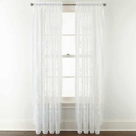 Home ExpressionsTM Jessica Lace Rod Pocket 2 Pack Curtain Panels