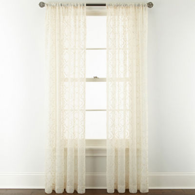 Royal Velvet® Octavia Sheer Rod-Pocket Curtain Panel
