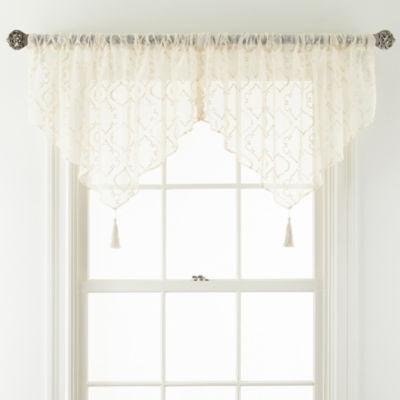 Royal Velvet® Octavia Sheer Ascot Valance