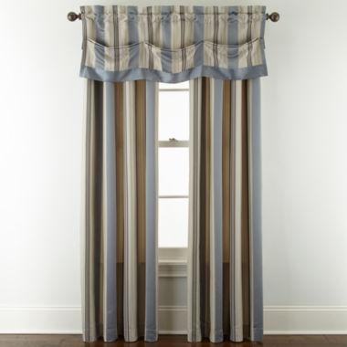 jcpenney.com   Royal Velvet® Lazarro Stripe Rod-Pocket/Back-Tab Window Treatments