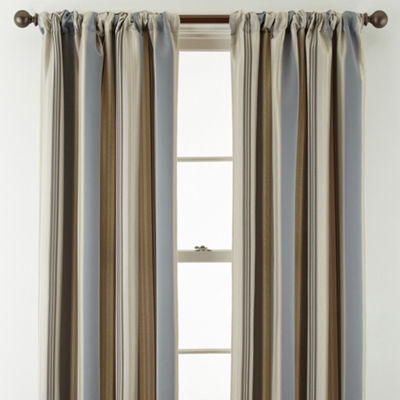 Royal Velvet® Lazarro Stripe Rod-Pocket/Back-Tab Curtain Panel