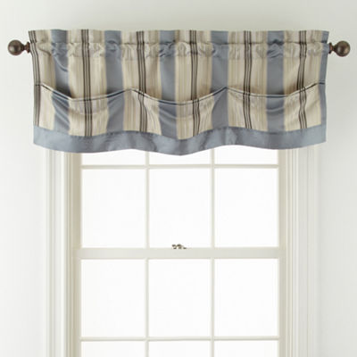Royal Velvet® Lazarro Stripe Rod-Pocket/Back Tab Valance