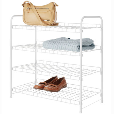 Whitmor White 4-Tier Closet Shelf