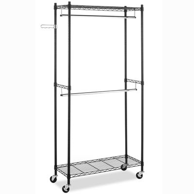 Whitmor Supreme Double-Rod Garment Rack