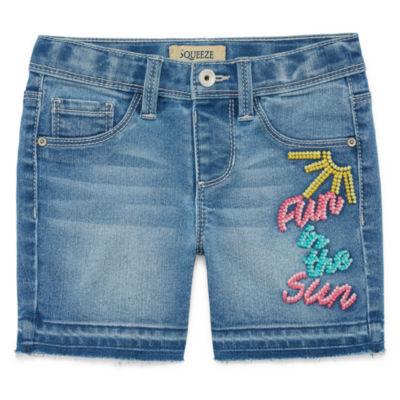 Squeeze Denim Shorts - Big Kid Girls