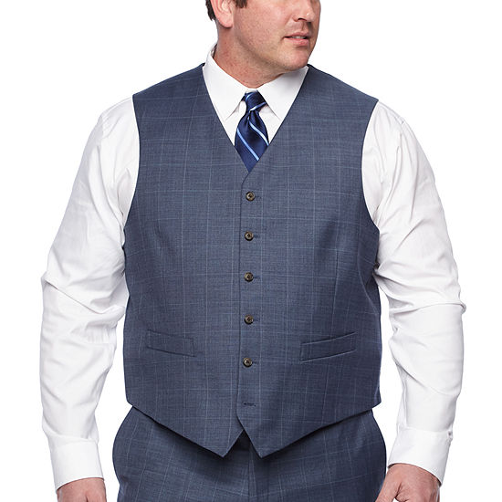 Stafford Plaid Classic Fit Suit Vest - Big and Tall