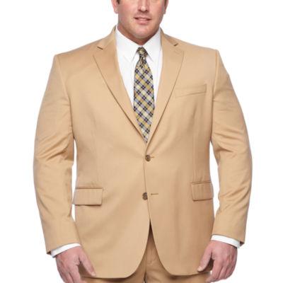 Stafford Khaki Classic Fit Stretch Suit Jacket - Big & Tall