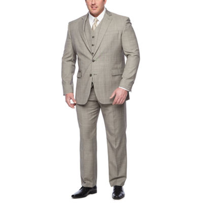 Stafford Checked Classic Fit Suit Jacket-Big and Tall