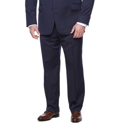 Stafford Executive Super100 Navy Stripe Classic Fit Suit Jacket - Big & Tall