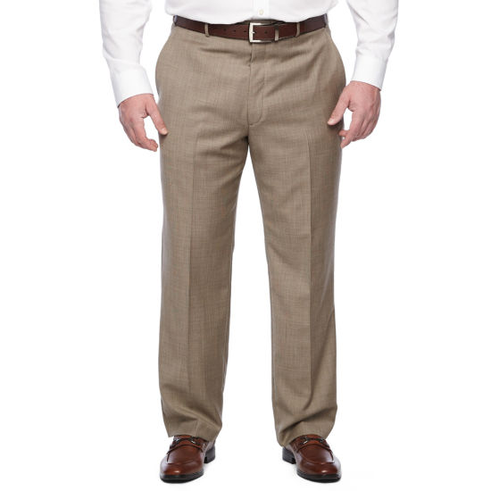 Stafford Executive Classic Fit Flat Front Pants-Big and Tall