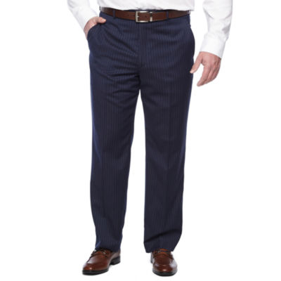 Stafford Executive Super 100 Classic Fit Flat Front Pants-Big and Tall